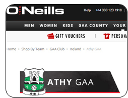 ONeills Shop Athy GFC